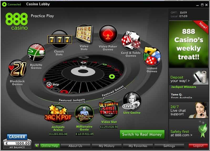 Jogos 888 Casino
