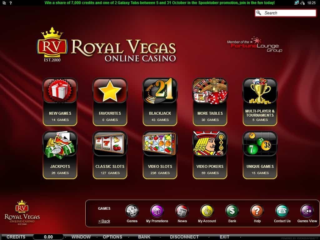Jogos Cassino Royal Vegas