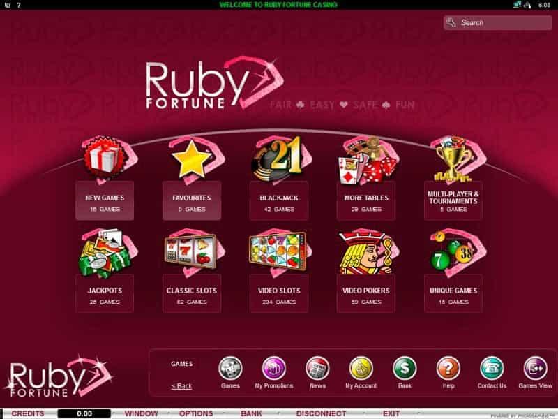Jogos Ruby Fortune Cassino Brasil